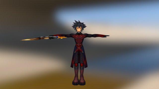 Kingdom Hearts - Vanitas Helmetless 3D Model