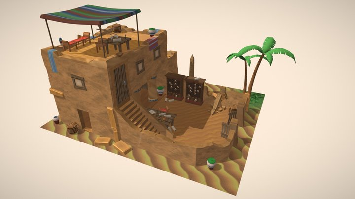 Scroll Writer's House 3D Model