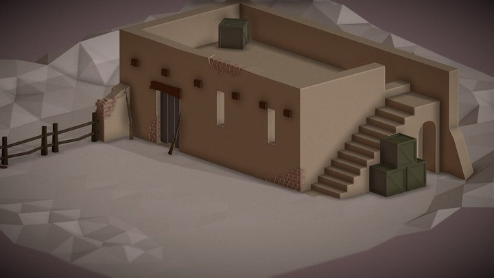 Low-Poly: Sand House 3D Model