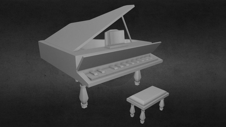 LOW POLY PIANO 3D Model