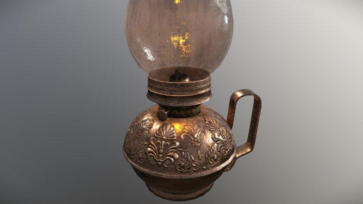 Kerosene Lamp. 3D Model