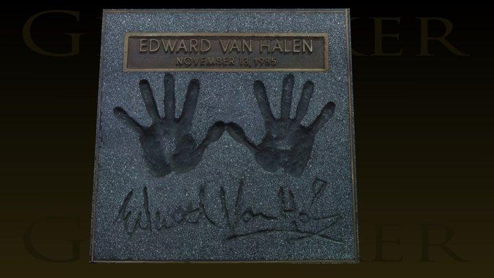 Eddie Van Halen Guitar Center RockWalk 3D Model