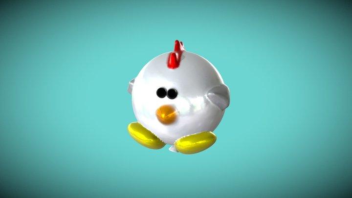 Medium   Rooster-Balloon 3D Model