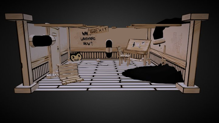 Bendy Workstation Fanart 3D Model
