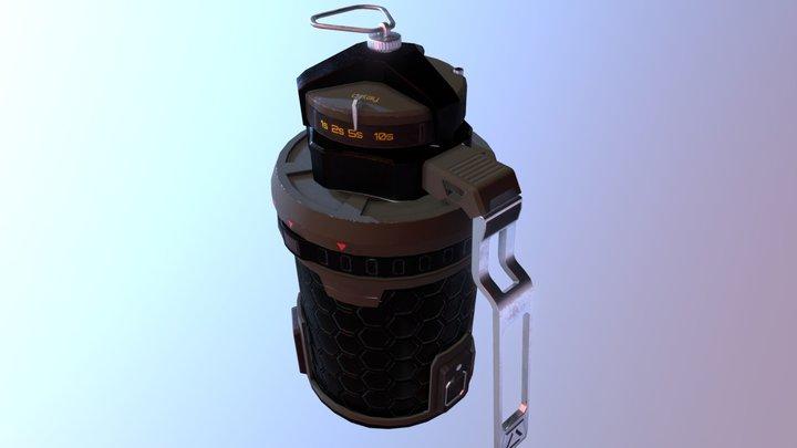 Grenade lowpoly 3D Model