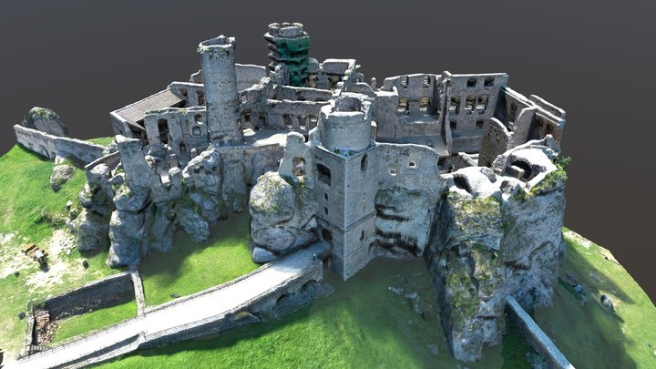 ruins of the Ogrodzieniec castle 3D Model