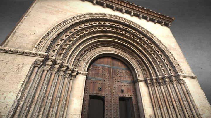 Portada románica de la catedral de Valencia 3D Model