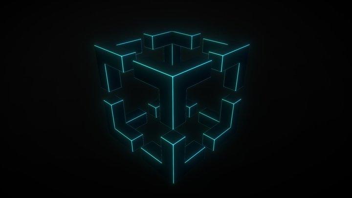 Impossible Cube 3D Model