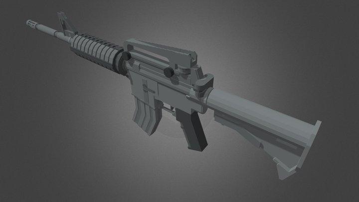 M4A1 - Minecraft 3D Model