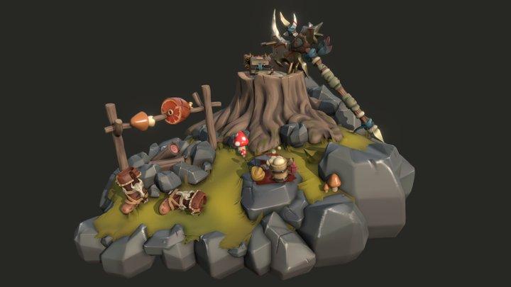 Warrior resting spot 3D Model