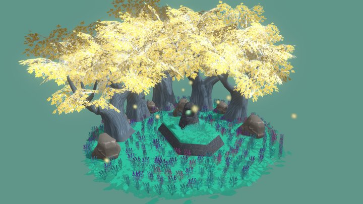 Mystical Forest 3D Model