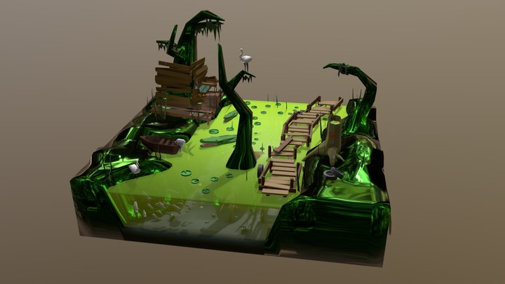 Swamp 3D Model