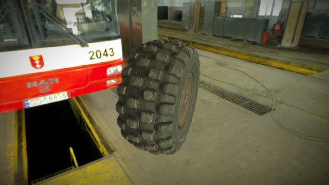 Photogrammetry Toy Car Tire 3D Model