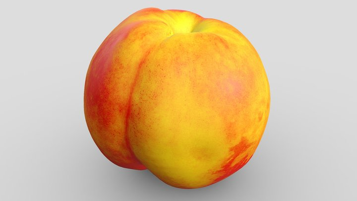 Colorful nectarine 3D Model