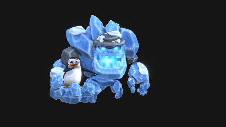 戈崙冰人&企鵝 3D Model