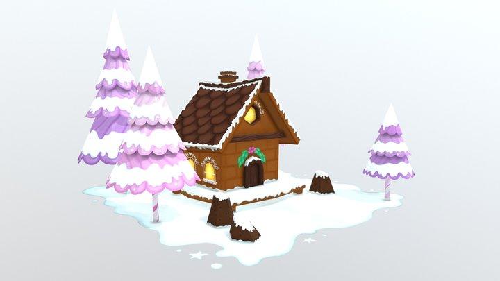 The Gingerbread Hut 3D Model