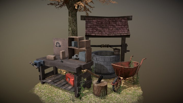 5 Props Assignment - Forest Loner 3D Model