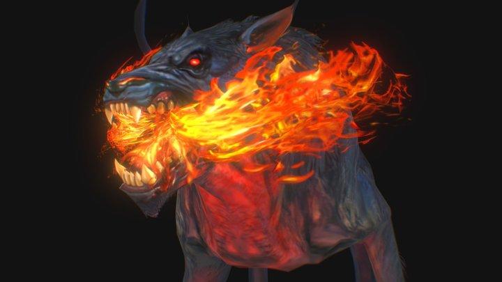 Fire Hell Hound FanArt 3D Model