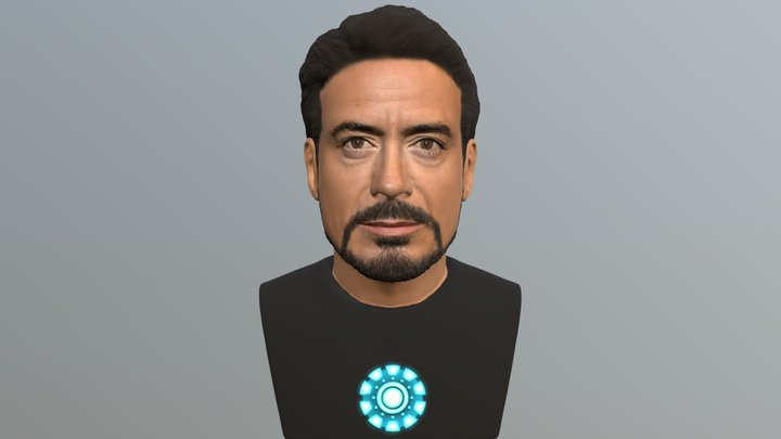 Tony Stark bust for full color 3D printing 3D Model