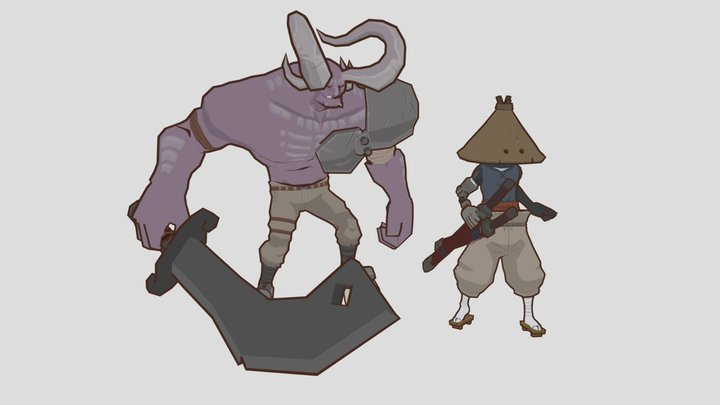 Kenshi fan art, but it's kind-of wind waker-ish 3D Model