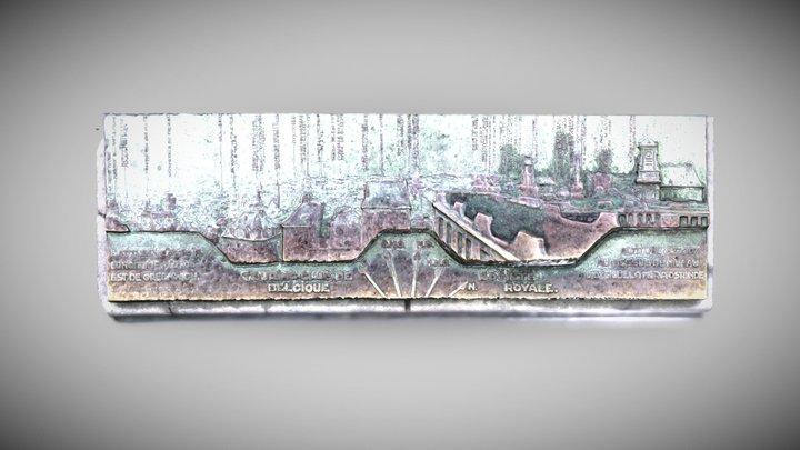 Brussels Observation Deck Sign 3D Model