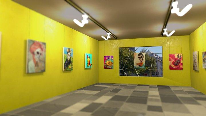 Bella Muerte-Exposición virtual 3D Model