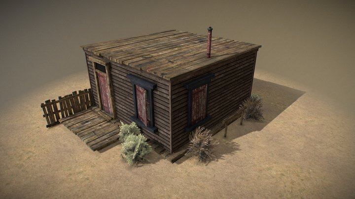 Western Town House 1 3D Model
