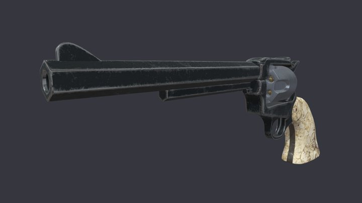Old West Gun 02 3D Model