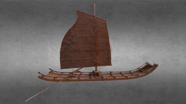 Banboo Boat  3D Model