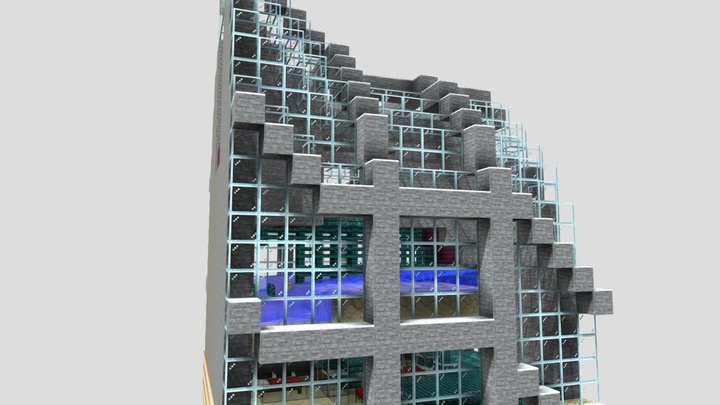 1.16.4 Iron farm 3D Model