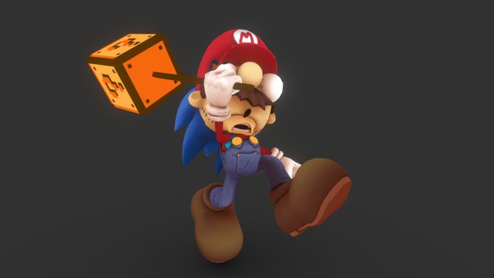 Mario the Hedgehog - Sketchfast7 - Final 3D Model