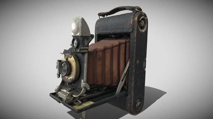 Kodak Pocket No3 E Camera circa 1912 3D Model
