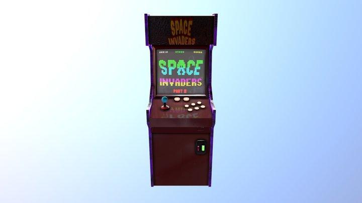 Borne Arcade/ Space Invader Arcade machine 3D Model