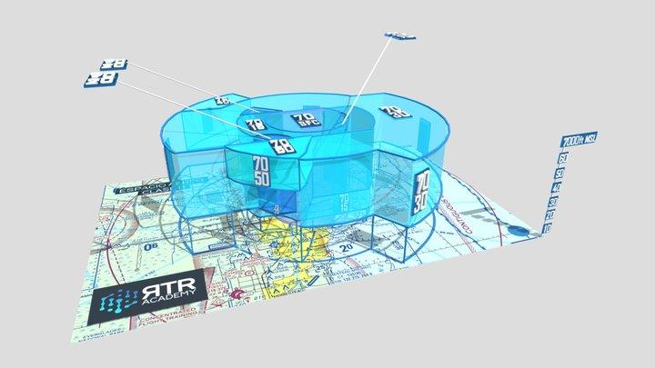 Espacio Aéreo Clase B - RTR Academy RPAs 3D Model
