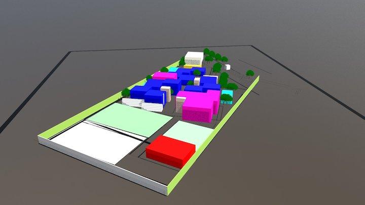 Colegio anteproyecto 3D Model