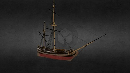 Pirate Ketch - Tides of War: Letters of Marque 3D Model