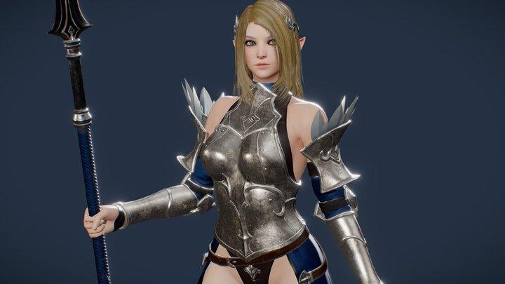 Elf Paladin Pose 3D Model