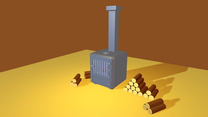 3December Day 2 Wood Stove 3D Model
