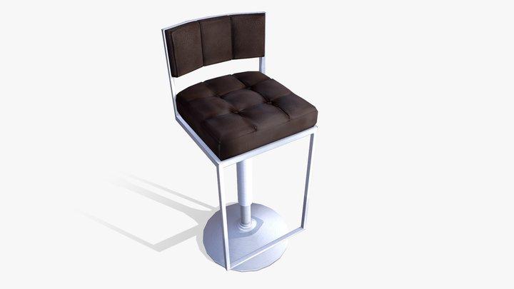 3D Bar Stool model 3D Model