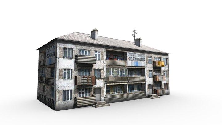 Three-storey house 3D Model