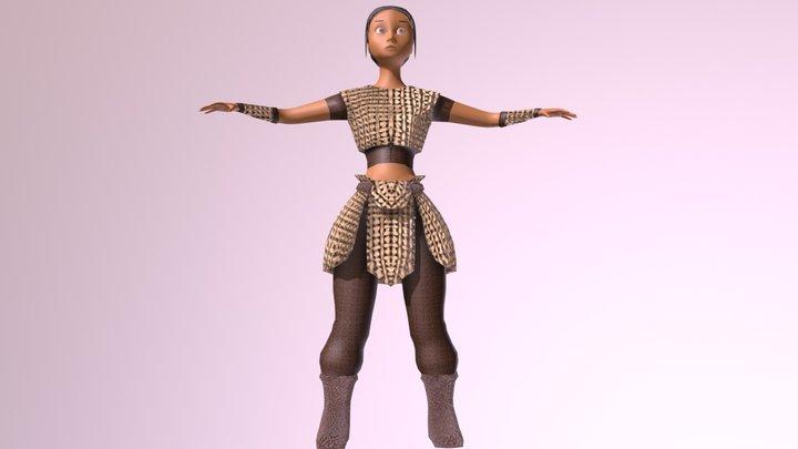 Personagem em progresso 3D Model