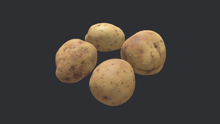 Maris Piper Potatoes 3D Model