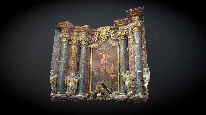 Petra Pavla Church interior 07 3D Model