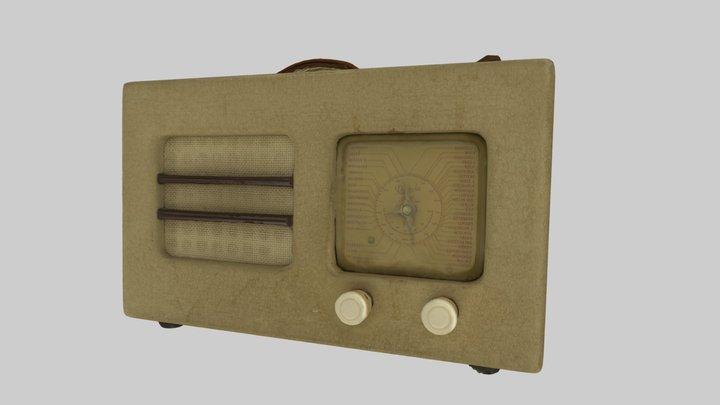 "1940s Radio ""Radiola"" 3D Model"