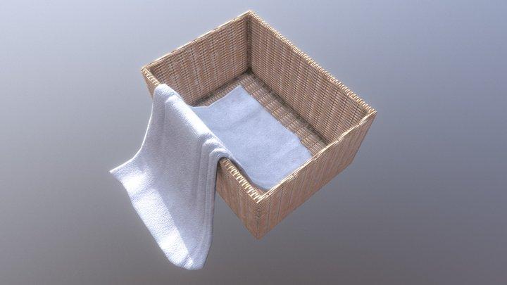Towel Basket 3D Model