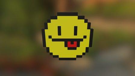Pixel Art (Smiley Face) 3D Model