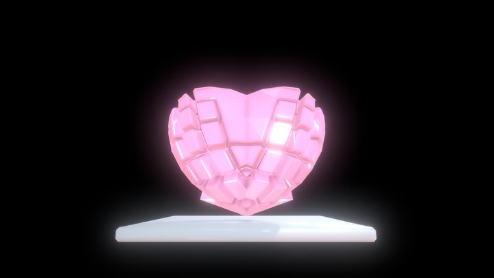 Abstract Heart 3D Model