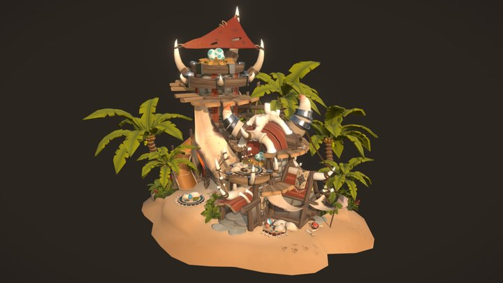 Baby dragon daycare 3D Model