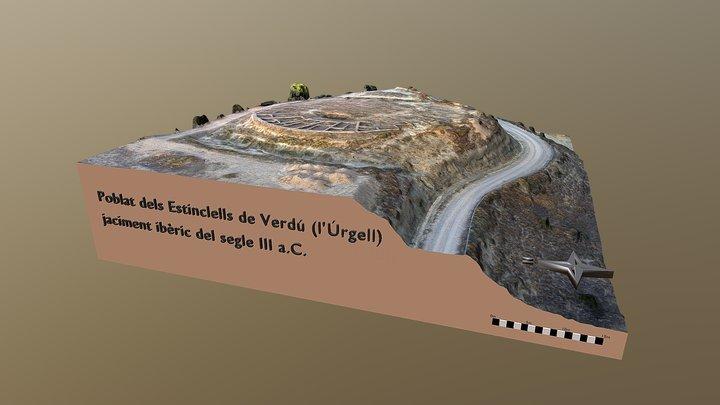 Poblat ibèric dels Estinclells de Verdú 3D Model