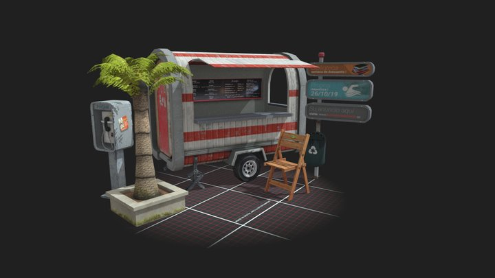 Props Scene (5 city-related-props)(1DAE06) 3D Model